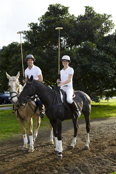 Saara Graeme-Wilson and her daughter, Saara Jnr. have turned their park back in to a polo field.