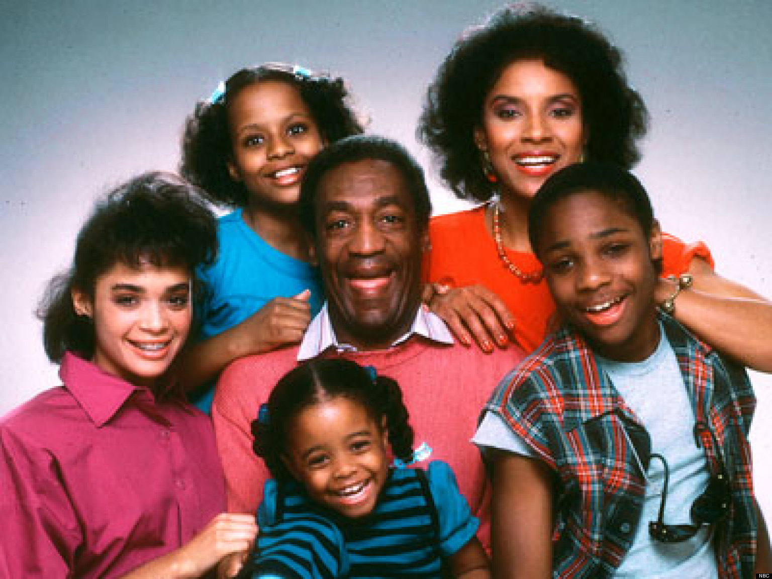 Bill Cosby, as Dr Huxtable, the family man at the centre of The Cosby Show sitcom.