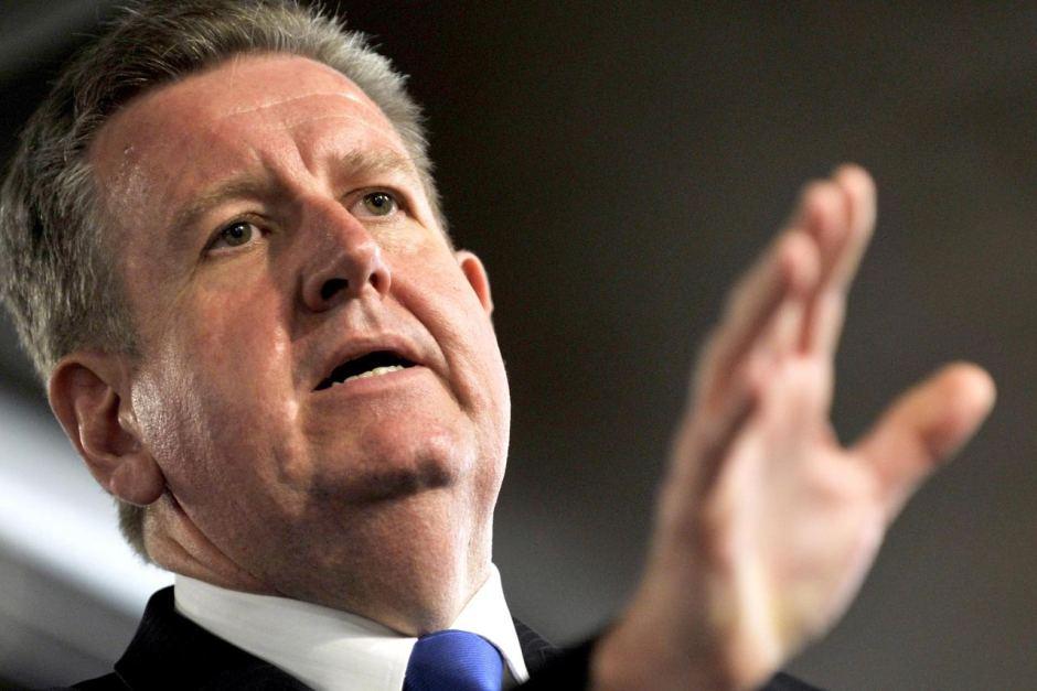 """Disgraced former Premier of NSW, Barry """"Bottle Shop"""" O'Farrell"""