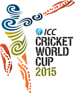 The 2015 ICC Logo is in full use as the world's cricketing nations await the spectacle