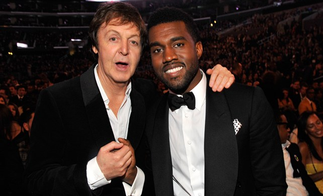 Paul McCartney getting faded with Kanye West at last months BET Awards PHOTO: VIBE Magazine