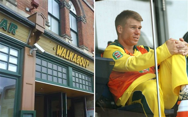 HOT HEAD: David Warner's temper has gotten him in trouble before.  In 2013 he was 'pretty slaughtered' he punched England's Joe Root at a Birmingham hotel.