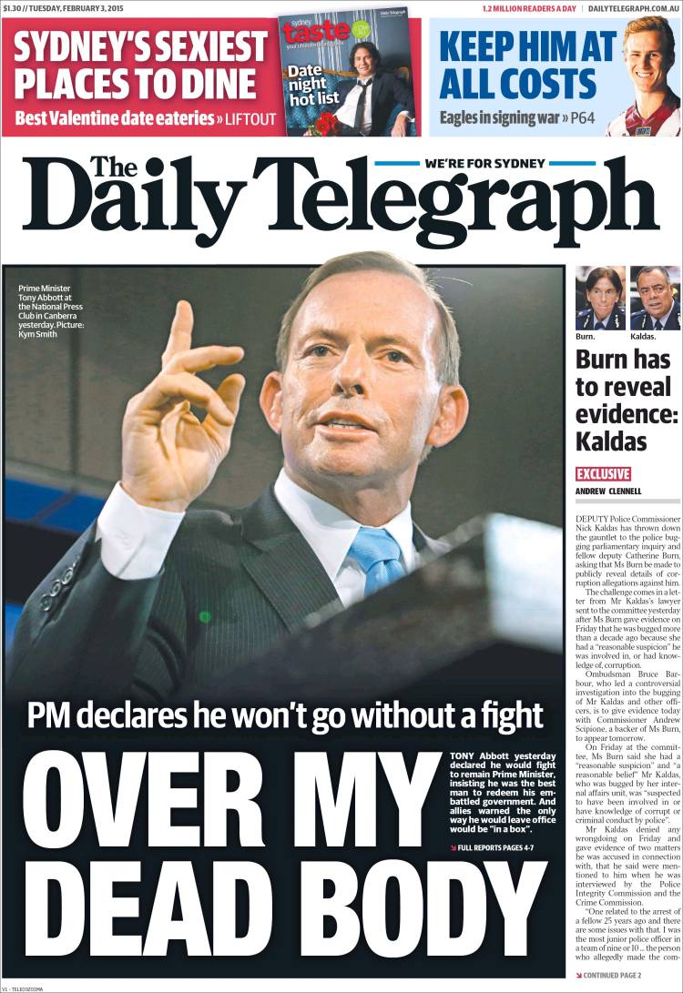 The Daily Telegraph forced to ...