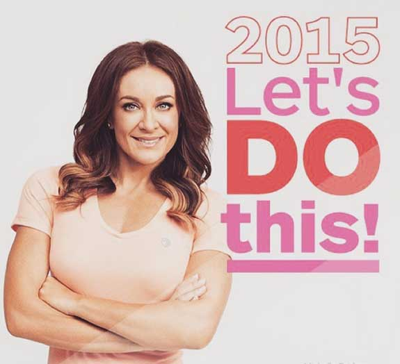 """Michelle Bridges, poses in an inspirational poster for sad women who pay her money in a hope to find the kind of happiness that she has found through bogan reality television shows and unproven """"vitamins"""""""