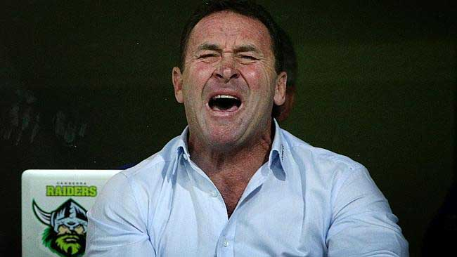 Current Raiders coach, Ricky Stuart, is struggling in his position leading the poorest club in the NRL