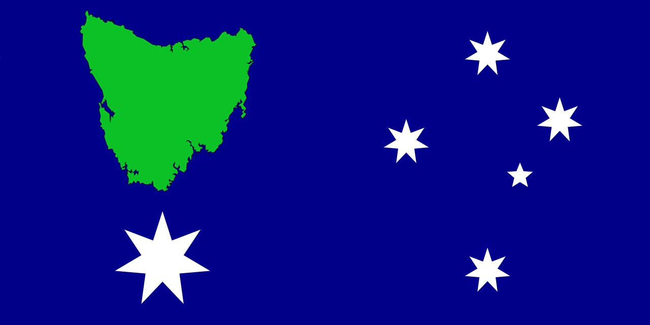 """""""The Tasmanian Republic Flag"""" - as proposed by Jacqui Lambie and her supporters"""