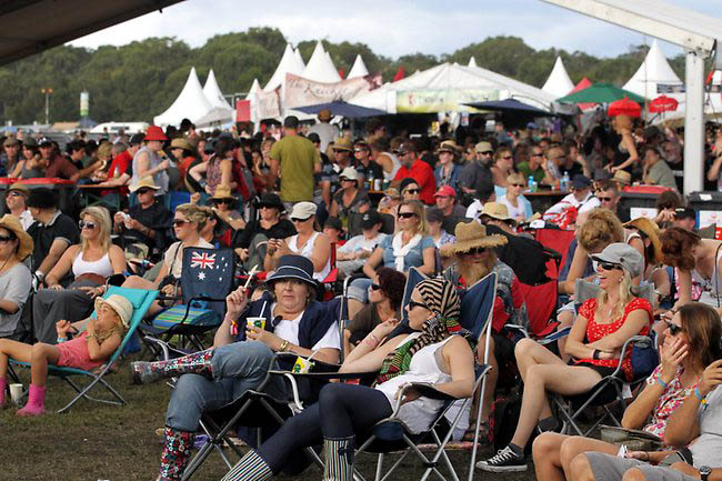 Bluesfest is an annual all-ages music festival held on the Easter long weekend in Byron Bay