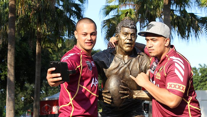 "The iconic bronze statues of rugby league heroes Mal Meninga, Darren Lockyer and the late Artie Beetson makes Caxton Street a hotspot for ""hardened"" beer-drinkers"