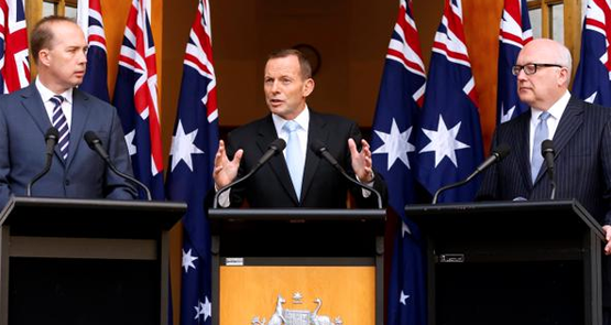 The Australian government utilizes up to eight Australian flags to help justify why Australian lives are more important than any others.