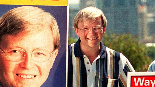 Kevin Rudd when he was a Bulimba standover man. PHOTO: Supplied.