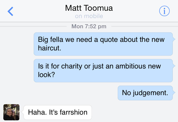 Toomua gives comment to the Betoota Advocate.
