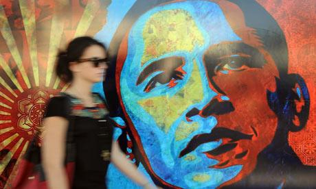 """Barack Obama's iconic """"Hope"""" poster."""
