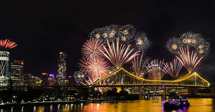 Brisbane's RiverFire is like Ekka Week, but for people who can't read very well. PHOTO: K.Anne-Wesser/Courier-Mail